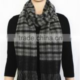 Double Faced Plain Wool Scarf with tassel