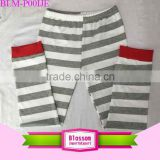 Stripe baby leggings knit OEM service new style wholesale kids cotton pants binding children high waist boy girls striped pants                                                                                                         Supplier's Choice