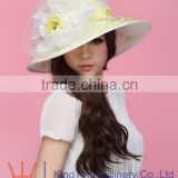 Womens Adult Organza party hats for adults Wedding Church Hat Evening Party Floral sun summer Hats