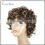 100% premium synthetic wig short wig afro kinky curly wig for black women