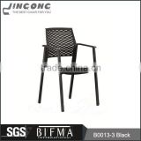 top sale black plastic back fabric seat office chair with spraying feet