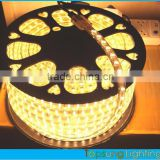 2015 new SMD double row AC110V amber flexible 5050 waterproof led strip light warm white color 120leds/m