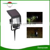 High Lumen Solar Garden Light PIR Motion Sensor LED Floodlight Path Lawn Lamp with Ground Spike