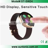 Smart Watch Bluetooth Phone wrist Watch Round dial display with Voice Gesture Control/ Siri/ Magnetic charging / for iPhone