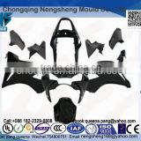 Free design Professional manufacturer of plastic motorcycle parts. Black Injection Mold Plastic Abs Fairing Kit For Motorcycle