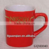 2013 Newest ceramic nescafe red cup