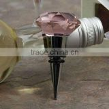 pink crystal wine bottle stopper for wedding gift