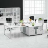 2012 Hot-sale Modern 4 seats wooden and metal frame office workstation furniture with mobile pedestals