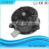 16363-0D040 China manufacturer high quality wholesale electric auto radiator 12v dc motor cooling fan for Toyota Corolla