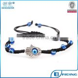 Wholesale black string blue evil eye handmade beaded bracelet for sale custom jewelry