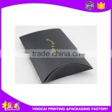 Custom Glossy Paper Pillow Box for hair wave extension