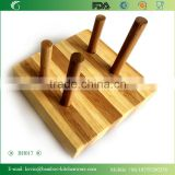 BH017 1 pieces bamboo cutting board holder convienent portable board stander kitchen set home appliance