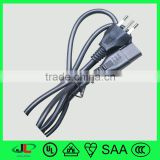 European electrical connectors, led color changing night light electrical wires, plug with cord