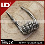 UD new populor Staggered Twisted Fused clapton coil Staple staggered fuse Alien coil for 510 e cig atomizer 10 pcs in one box