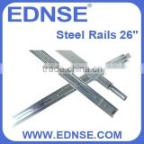 "EDNSE S26-C 26"" Steel Rack Rail Slides for All Standard 19"" Server Case or Cabinet"