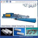 continuous mesh belt high temperature gas industrial heat treatment brazing muffle furnace