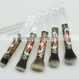 Nose Cleaning Acrylic Handle Nose Brush, Crystal Handle Copper Ferrule Vintage Nose Cleaning Brush