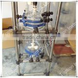 Hot selling innvoative lab Three Layers Glass Reactor TOPT-150L with continuous stirred tank