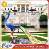 Used for garden decor resin peacock sculpture for sale NTRS-090LI