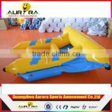 Factory price funny inflatable flying fish tube towable banana boat for sale