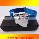 Unique airplane buckle seatbelt style magnetic bracelet
