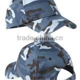 Stylish 100% Cotton Twill Camouflage Caps Blue Camo Baseball Cap Winter Camo Baseball Cap