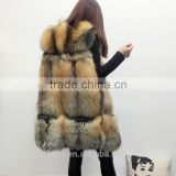 PC-242 2017 New fashion sleeveless outerwear lady winter real fox fur vest women