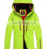 Cheap waterproof women winter yellow ski jacket with OEKO-Tex cartification