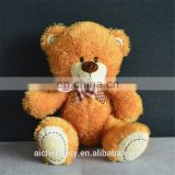 small size classical brown plush teddy bear toys with scarf