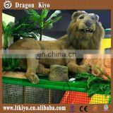 Life Size Simulation Animal Theme Park Simulation Lion