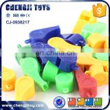 Promotion cheap toy cheering whistles plastic whistle in bulk