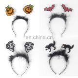 Halloween party supplies fashion pumpkin face headpiece hair accessories