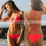 Back Spider-web Crochet Trikini Swimwear Female Sexy Women Monokini Swimsuit One Piece Bathing Suits