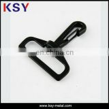 Small black dog leash metal snap hook