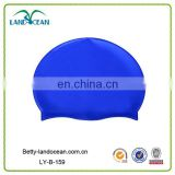 Customized round silicone swimming caps for long hair