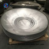 Customer needs industrial flat bottom flanging dish head with carbon steel