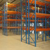 bolted go-downs blue and orange pallet racking system