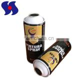 Portable Size Diameter 65mm Spray Paint Metal Can/Aerosol Tinplate Can with White Cone and Dome