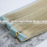 European remy PU tape weft hair extensions