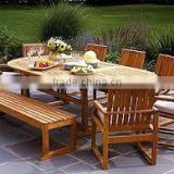 BEST PRICE - mosaic tile - Garden furniture - garden set wood top
