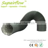 8 INCH Air Conditioning PVC COATED ALUMINUM FLEXIBLE DUCT in GREY COLOR