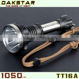 DAKSTAR TT16A CREE XML T6 1050LM 18650 Superbright Aluminum Police Rechargeable Emergency Tactical Brigh Light Torch