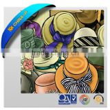 Promotional PVC Mouse Pad broad-brimmed straw hat mouse pad