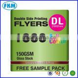 Double Side 150gsm Gloss Stock Flyer Printing