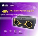 XOX 48V Phantom Power Supply with USB cable for Any Condenser Microphone Music Recording Equipment
