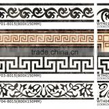 foshan full body decorate borders,best for Living room,Hotel,Restaurant,Elegant floor tiles