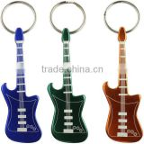 custom guitar shape metal keychain bottle opener