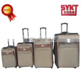 Brown color new design four wheels aluminium alloy trolley branded Baigou luggage set for sale