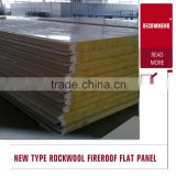 ware shop, prefab house pu sealing rock wool/glass wool sandwich panels China manufacturer