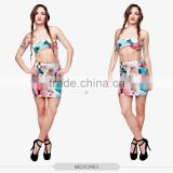 black girls mini skirts sexy tight hot mini skirt vintage print 3d digital full print custom hot sale tube stretchy summer skirt